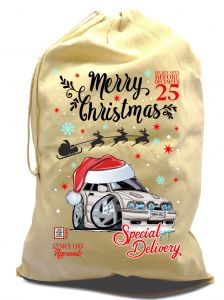X-Large Cotton Drawcord Koolart Christmas Santa Sack Stocking Gift Bag & Mk4 Escort RST Image
